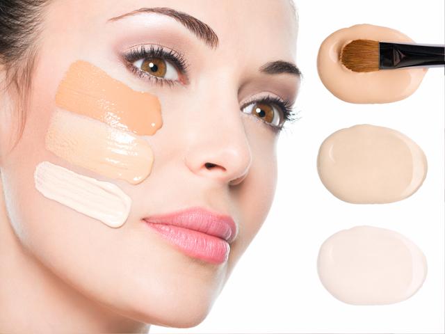 Distintas bases maquillaje