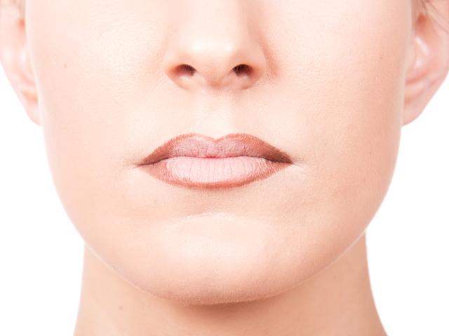 perfilar labios