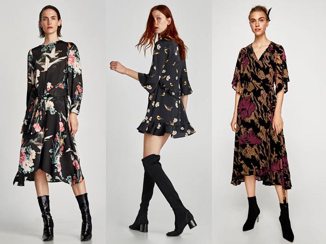 Vestido. Tres looks de Zara.