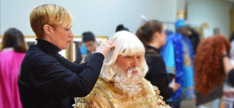 Caracterizando a los Reyes Magos. Maquillaje de fantasía